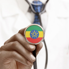 Stethoscope with national flag conceptual series - Ethiopia