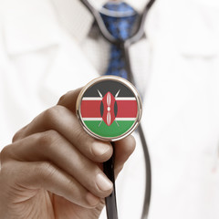 Stethoscope with national flag conceptual series - Kenya