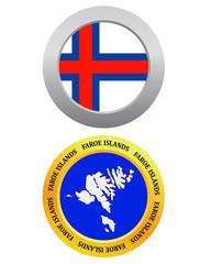 button as a symbol map Faroe Islands
