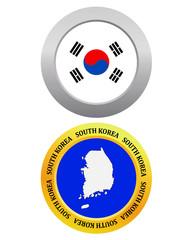 button as a symbol map SOUTH KOREA