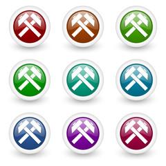 mining vector icon set