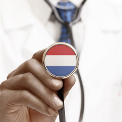 Stethoscope with national flag conceptual series - Netherlands