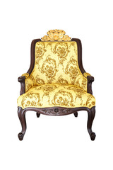 Baroque Chair on white background
