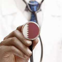 Stethoscope with national flag conceptual series - Qatar