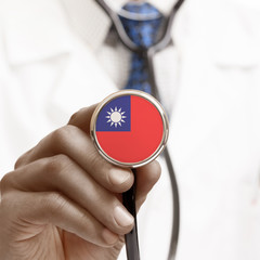Stethoscope with national flag conceptual series - Taiwan - Repu