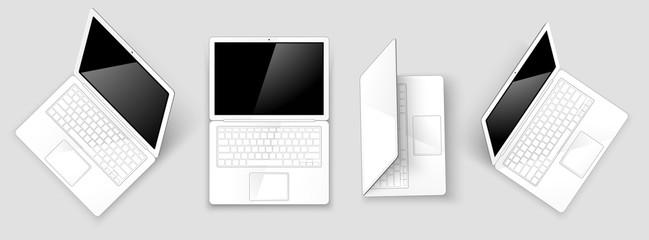 Laptops. Vector