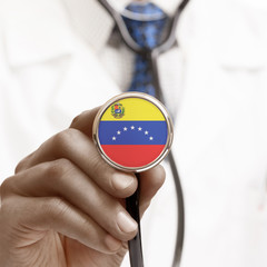 Stethoscope with national flag conceptual series - Venezuela