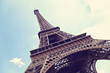 Eiffel Tower in Paris, France on a blue sky - 78814137