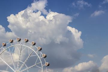 Ferris Wheel in the clouds