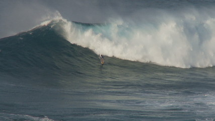 Big Wave Surfers at Jaws Maui Hawaii