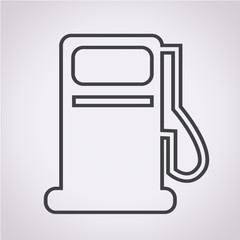 Gas pump icon , oil station icon