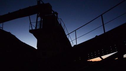 Abandon Factory Equipment at Night