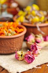 Dried flowers rose, herbal medicine