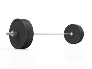 Lifting Weight Isolated on White Background