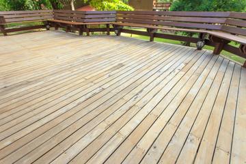 wooden decking in terrace