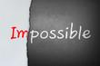 Постер, плакат: No impossible only possible