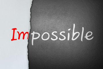 No impossible, only possible