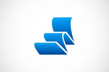 ribbon curl vector logo