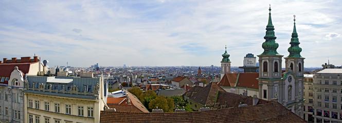 Panorama des des Wiener Bezirkes Mariahilf