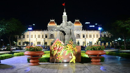Statue of Ho Chi Minh with Children  - Ho Chi Minh City (Saigon) Vietnam