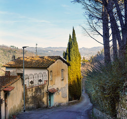 Typical View of Tuscany village near Florence