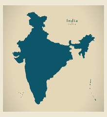 Modern Map - India IN