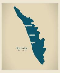 Modern Map - Kerala IN