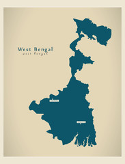 Modern Map - West Bengal IN