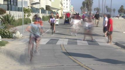 Santa Monica Walkway - Time Lapse