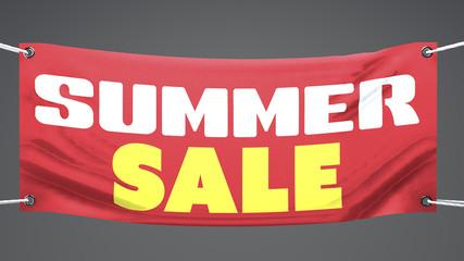 Vendita d'estate, striscione pubblicità