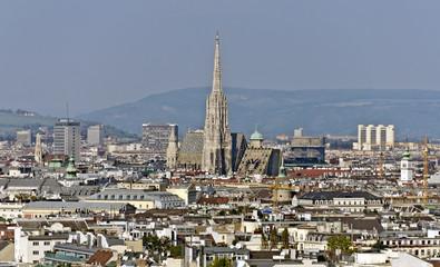 Panorama von Wien mit Stephansdom