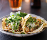 fish tacos with slaw, lemon zest and cilantro - 78821530