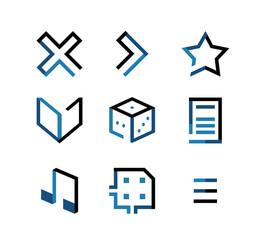 Flat Geometric Icon