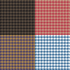 Houndstooth Seamless Patterns Set