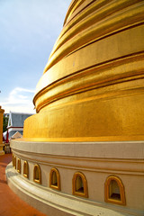 gold    temple   in   bangkok  thailand