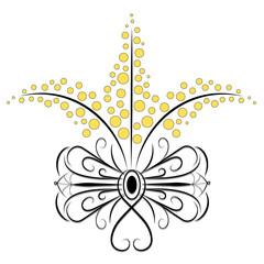 Fiocco mimose stilizzato