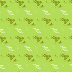 Happy Easter Letter Green Seamless Background