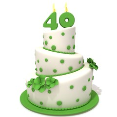Birthday cake with number forty