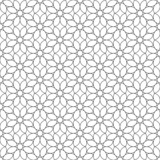 Black and white geometric seamless pattern flower stylish.