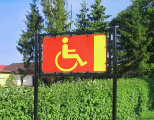 reserved only for disabled