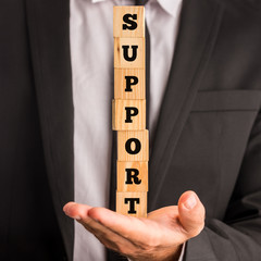 Conceptual image of business support