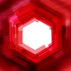 Vector background with red blurred hexagon