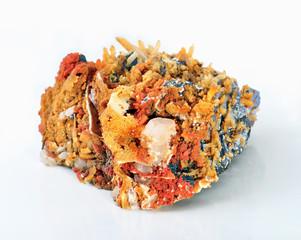 Galena, quartz and calcite polymetallic compounds