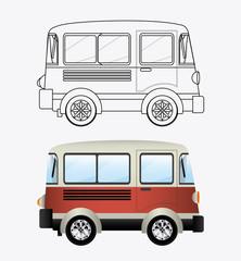 transport design, vector illustration