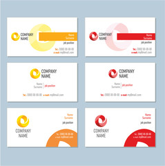 Business card orange and red