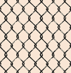 Seamless mesh. Doodle style