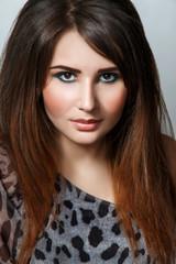 Beauty Glamorous Model Girl Portrait