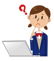 女子学生 パソコン 困る