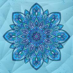 Circle flower mandala