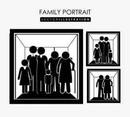 family portrait, design, vector illustration